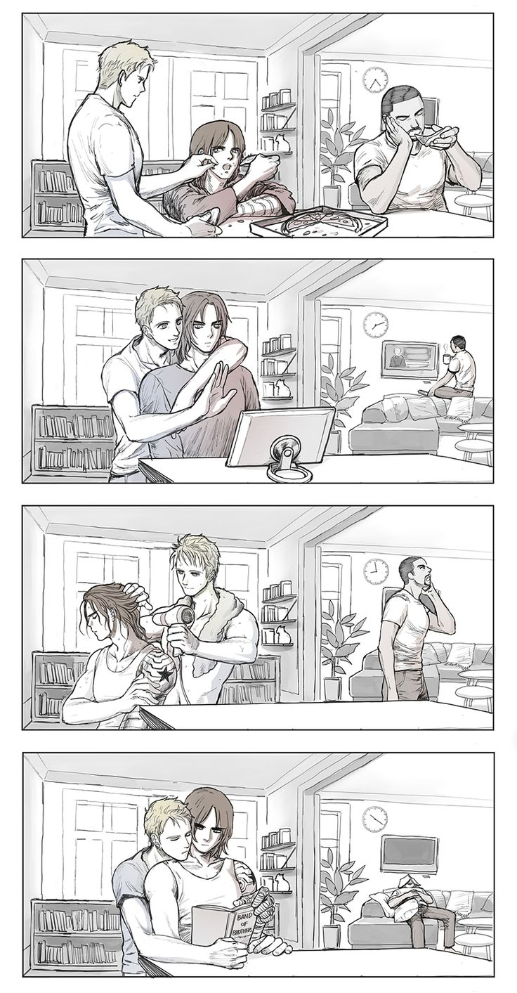 The daily life of Bucky Barnes and Steve Rogers. Featuring Sam Wilson.