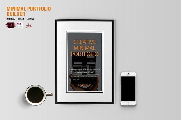 Minimal Portfolio Builder by BizzCreatives on @creativemarket