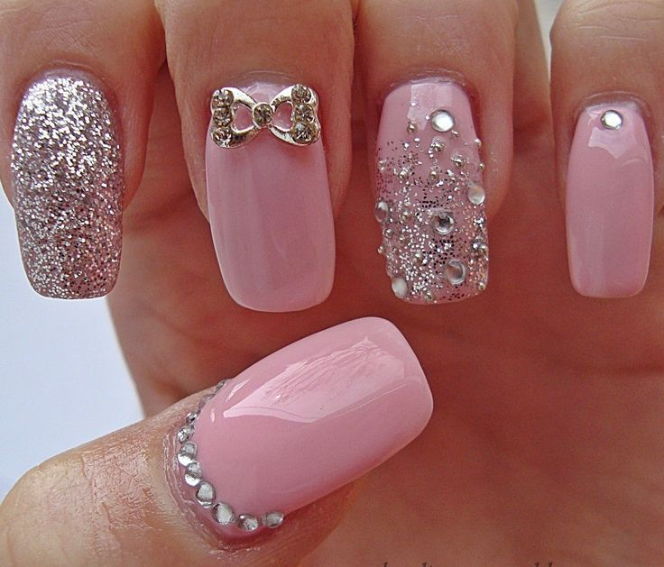 Besides, the soft pink shade can go along well with gold, black and white colors, which means you can complete any outfit with the beautiful rose quartz nails. Description from prettydesigns.com. I searched for this on bing.com/images
