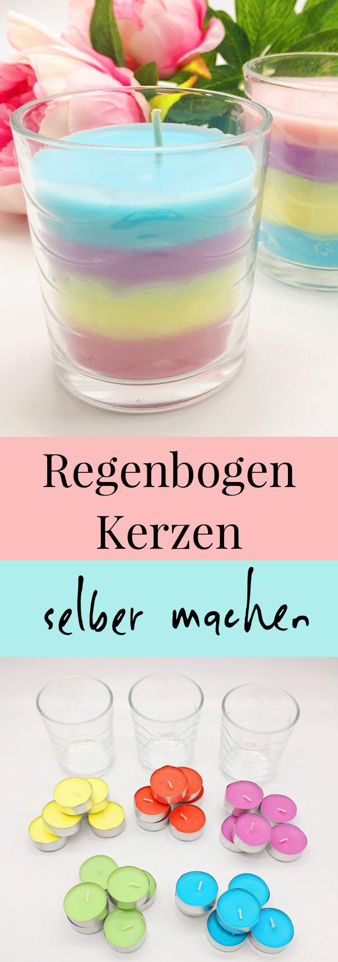 Regenbogen Kerzen Selber Machen U2013 Schönes DIY Geschenk