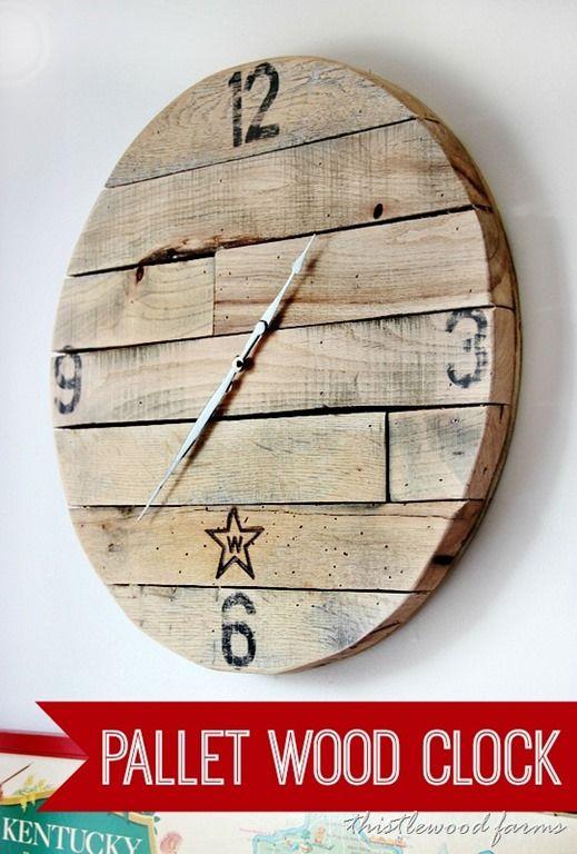 Trash To Treasure How To Make A Pallet Wood Clock