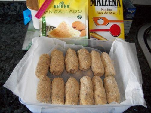 Una deliciosa receta de Croquetas de jamón sin gluten /sin lactosa /sin huevo (opcional) para #Mycook http://www.mycook.es/receta/croquetas-de-jamon-sin-gluten-sin-lactosa-sin-huevo-opcional/