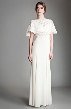 Temperley London - Bateau Sheath Gown in Silk Crepe