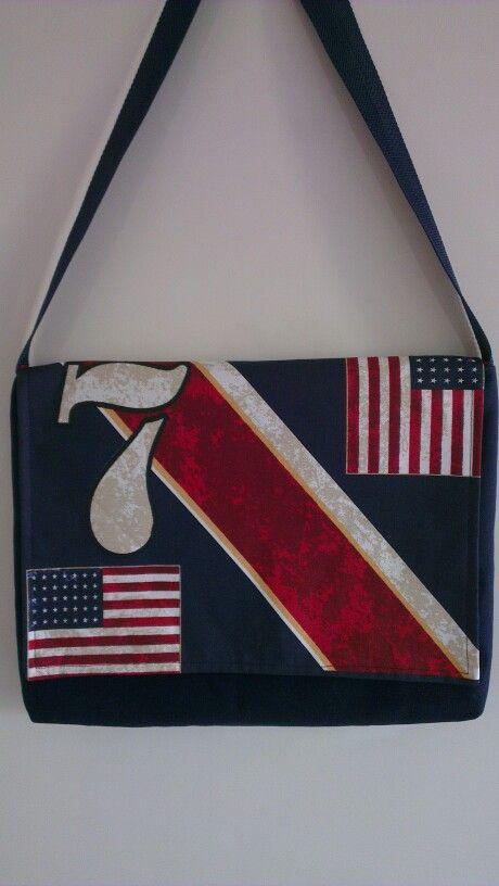 Stoere tas met USA vlag