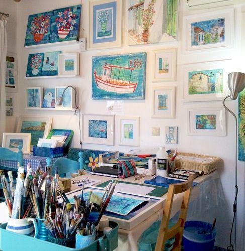 Artist Gill Tomlinson's studio. See her portfolio by visiting www.ArtsyShark.com