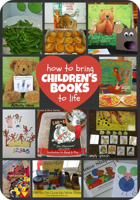 How To Bring Children's Books To Life. Love the Mouse Shapes idea