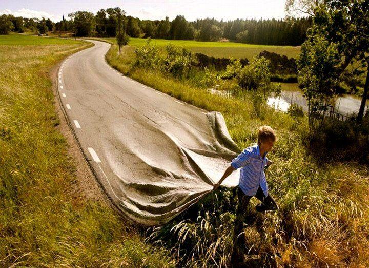 De weg is weg!!!