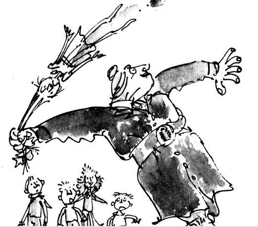 Quentin Blake illustration -Matilda Roald Dahl -Ms trunchball!