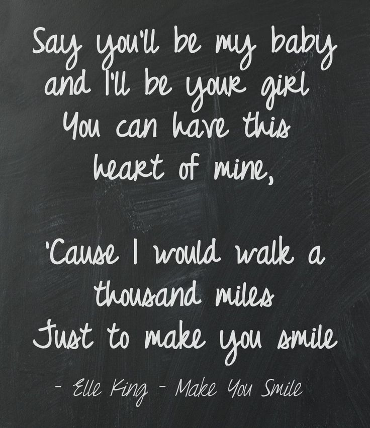 Elle King - Make You Smile Lyrics This quote courtesy of @Pinstamatic (http://pinstamatic.com)