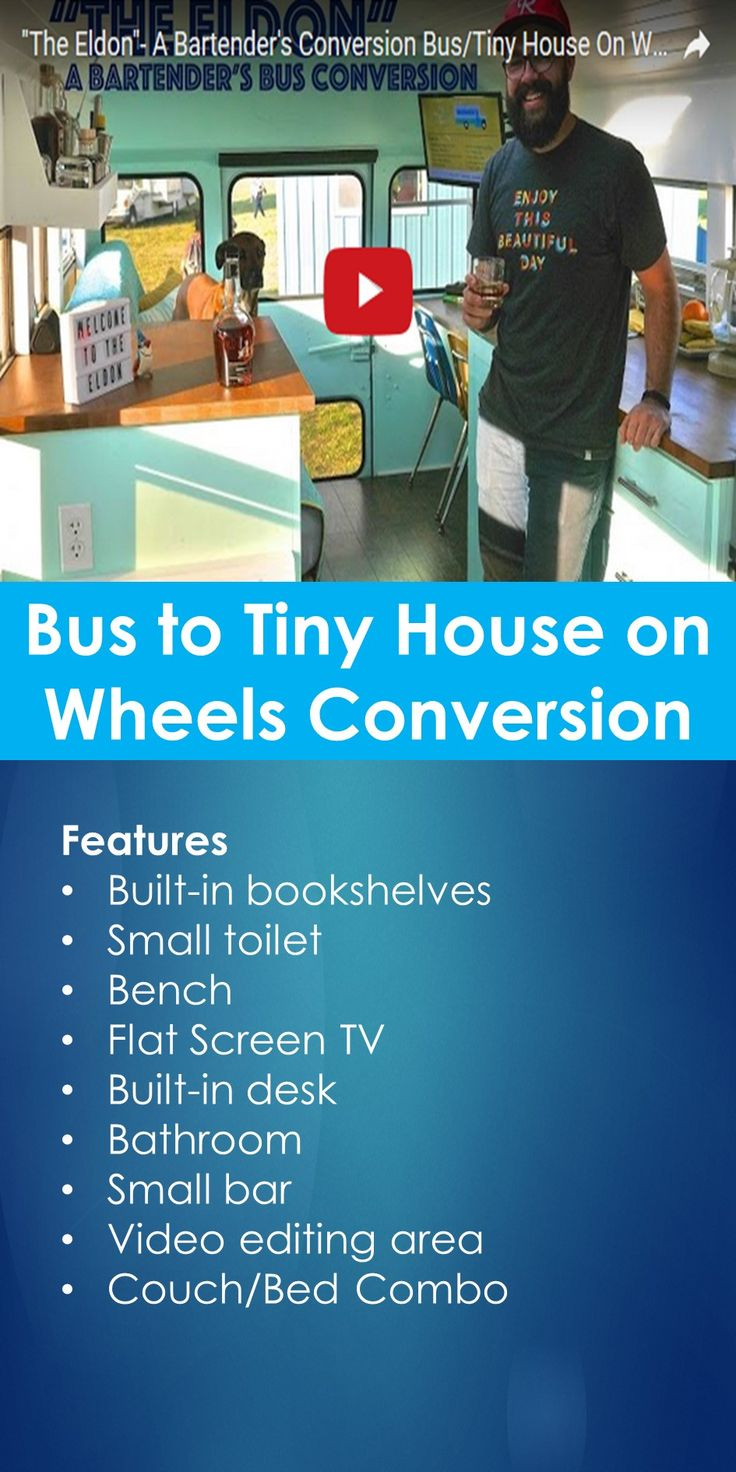 Tiny House Video Tour: Bus to Tiny House on Wheels Conversion   In This Guide, You Will Learn The Following; School Bus House Conversion, School Bus House For Sale, Tiny House Bus Conversion, How To Convert School Bus Into A Rv, School Bus Conversion Ideas, School Bus Tiny House Hgtv, School Bus Conversion Cost, Short School Bus Conversion, Etc.
