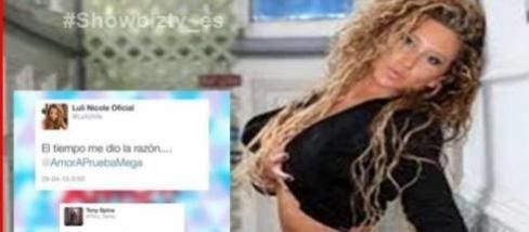 #Tony y #Luli discuten a través de #Twitter. La ex concursante no pudo evitar hacer un comentario cuando se enteró que la actual pareja de Oriana abandonaba el reality.#showbiztv_es