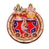Designer Diwali Pooja Thali, Laxmi Ganesh Idols and Diyas