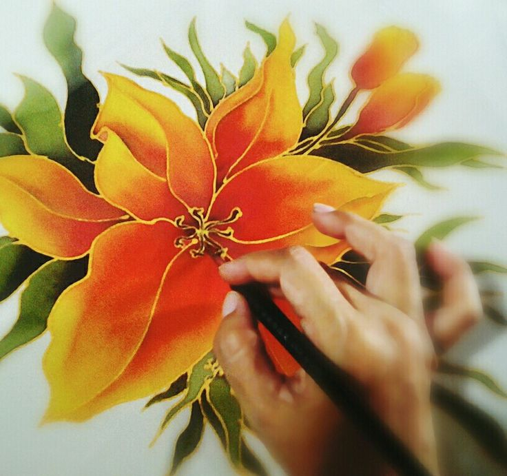 53 best silk and chiffon painting images on pinterest chiffon lily real silk painting by sydnart mightylinksfo