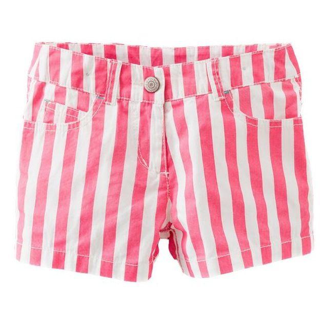 10 unids/lote Baby girls pantalones niños ropa para niños de rayas pantalones cortos pantalones de los muchachos 2-7 T sylvia 533006894221