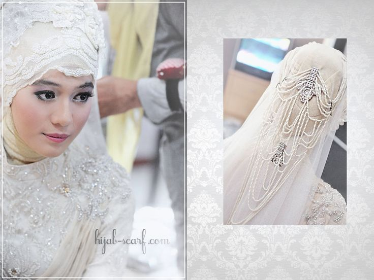 Ivory wedding outfit, #hijab