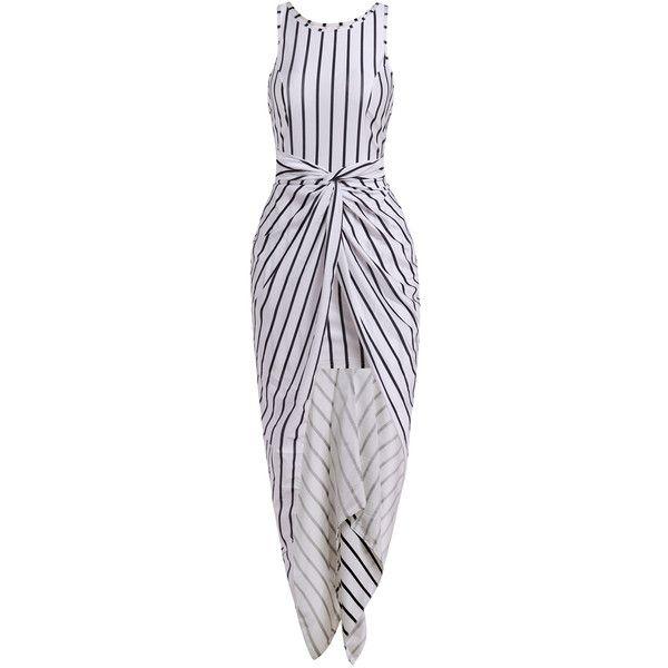 Grey racerback maxi dress