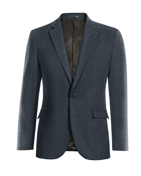 Blue checked Merino wool Blazer http://www.tailor4less.com/en/men/blazers/4050-blue-checked-merino-wool-blazer