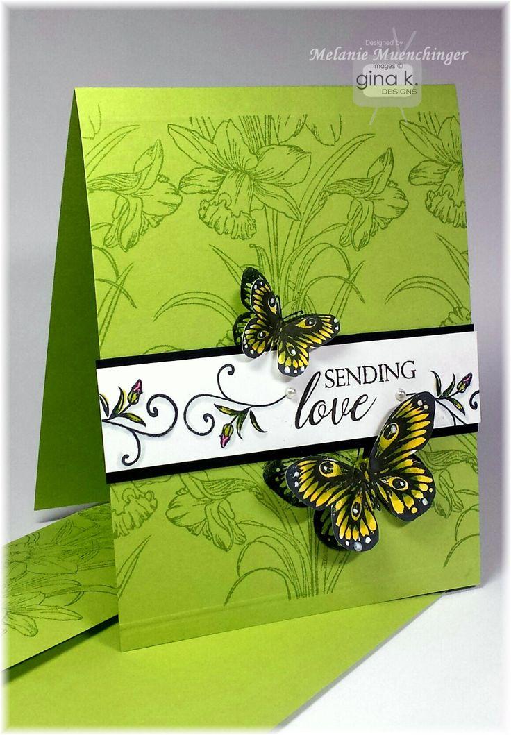 Sending Love StampTV kit from Gina K. Designs. Card by Melanie Muenchinger. All…