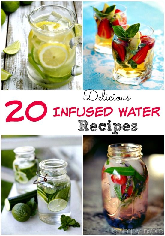 Any of these 20 Delicious Infused Water Recipes are perfect for turning plain water into a much more delicious drink.
