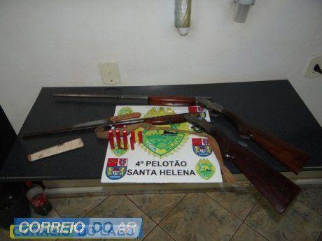 Polícia Militar prende em flagrante homem que ameaçava esposa com espingarda em Santa Helena | CORREIO DO AR