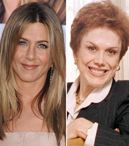 Jennifer Aniston & her mom Nancy Dow