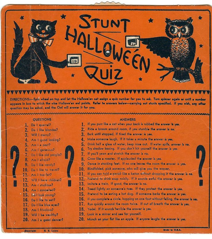 halloween trivia quiz questions answers