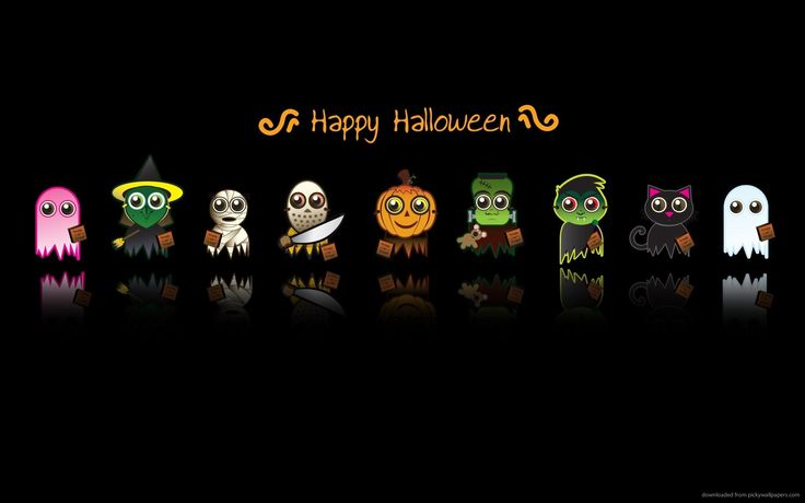 Halloween cute characters for 1920x1200