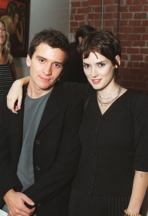 Photo of Winona Ryder & her Brother  Uri Horowitz