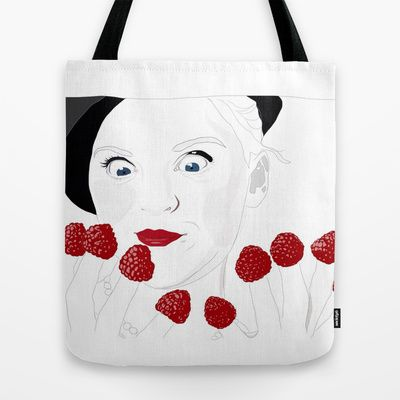 New Bags!! Raspberry Fingers Tote Bag by Footeprints - $22.00