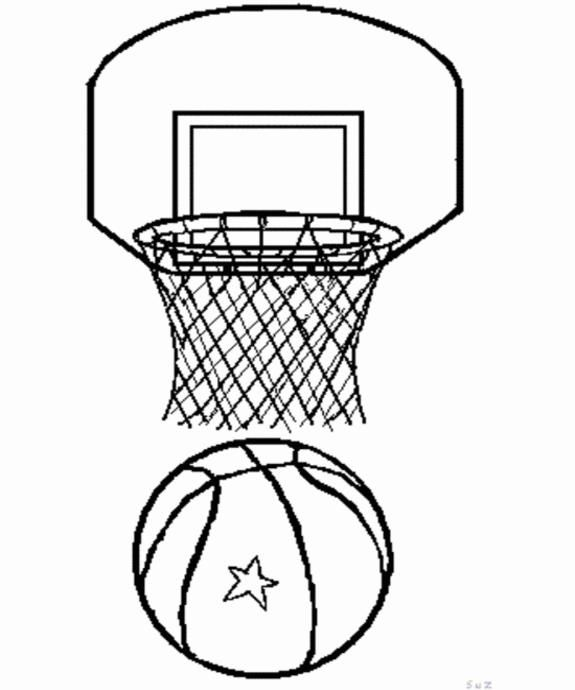 basketball coloring pages basketball coloring 8 575690