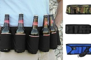 $19 for a Beer and Soda Can Holster Belt in Choice of Colour