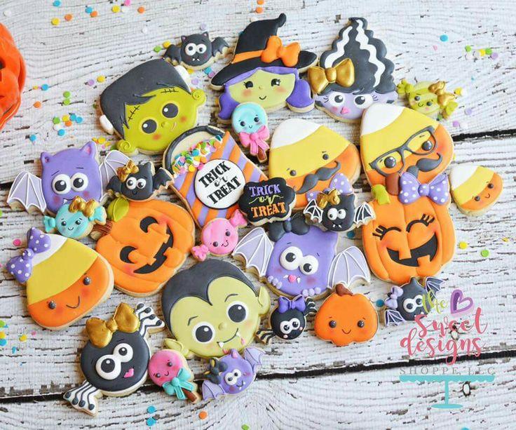 1013 best Halloween baking images on Pinterest Halloween baking - halloween pumpkin cookies decorating