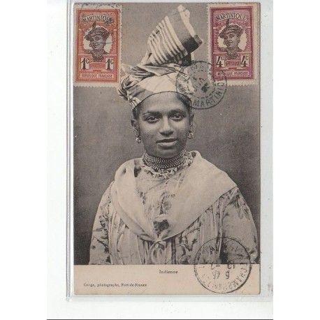 MARTINIQUE : Fort-de-France: une Indienne vers 1900
