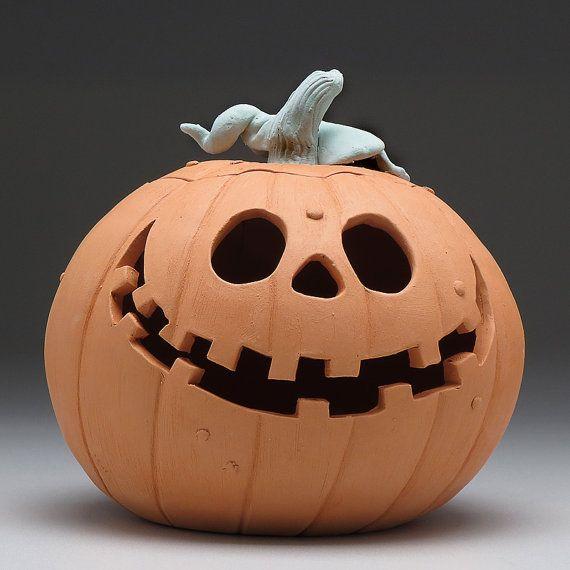 Pumpkin clayjack o lanternhandmade ceramic one of a by DavisVachon