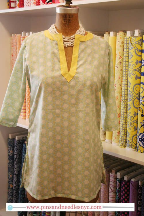 free tunic pattern from Pins & Needles and The Crafts Department/Martha Stewart
