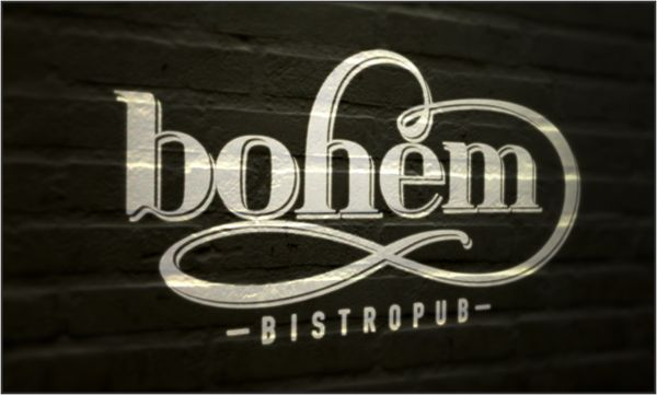 BOHÉM Bistropub//01 by Gilányi Nóra, via Behance