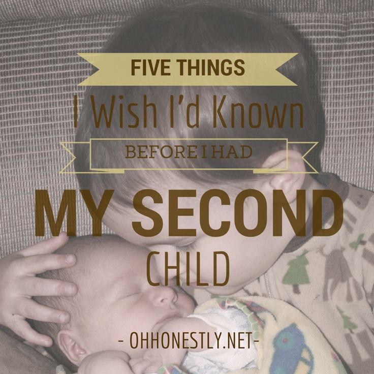 Five things I Wish I'd Known Before I Had My Second Child- Oh, Honestly! #parenting #kids