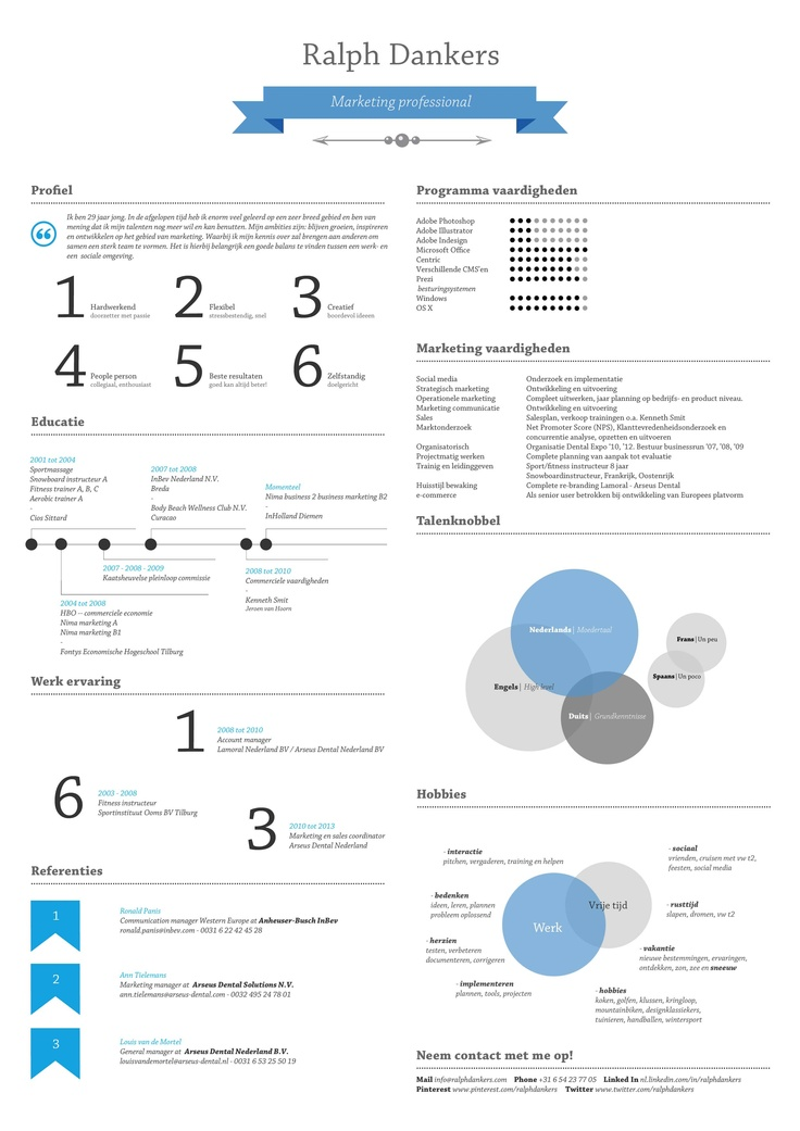109 best \/\/ CV images on Pinterest Resume templates, Cv template - hobbies in resume