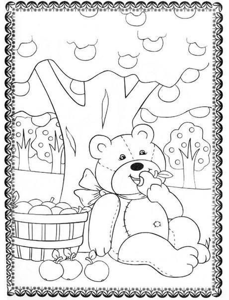 летние детские раскраски 5