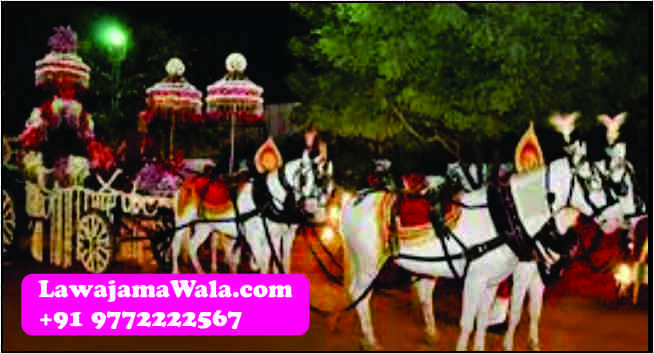 Royal Shehnai Players for Wedding & Procession  •All arrangements for Wedding procession i.e. Wedding Band, Punjabi Dhol, Nagada, Chariot, Pagdi/Turbans/Safa, Mashal, Dulhan Doli Rental, Dandia Party, Ghori, Flower Umbrella/Chattar, Elephants & Camels, Tasha, Turai, Fire Acts, Dulhan Chatar, Millitary Band, Wedding Procession Light, Fire Works(Atishbazi), Rajasthani Folk Singers  •We have players for following type of Instruments: Shehnai, Sitar, Sarangi, Santur, Flute, Sarod,