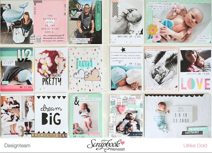 Project Life Doppelseite Juni 16 - Crate Paper *Cute Girl* - von Ulrike Dold