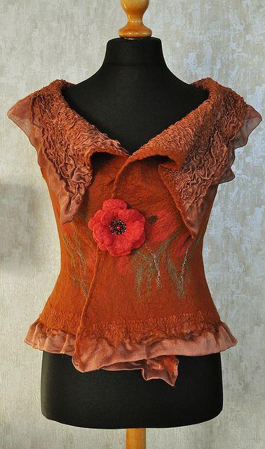 "Handmade felted vest ""Andalucia"" by ShellenDesign, via Flickr"