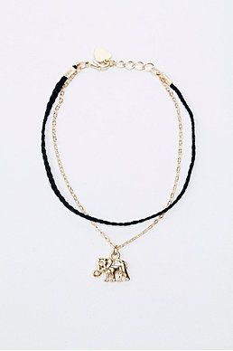 Elephant and Chain Friendship Bracelet in Gold
