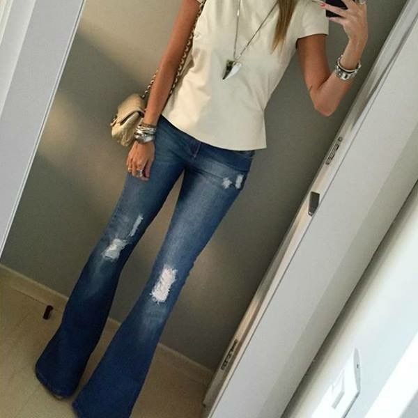 Jeans that make Petite legs look long. They elongate the leg.