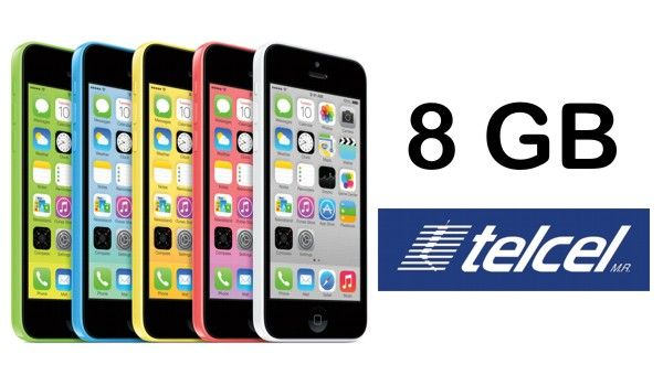 iPhone 5C de 8 GB disponible a partir del 1 de mayo en México con Telcel.