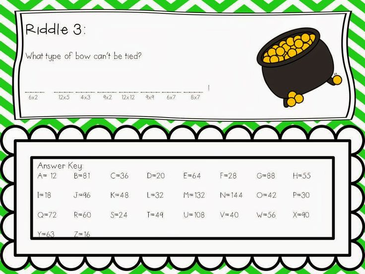Sunday Funday! Riddles, Answer keys, Types of bows