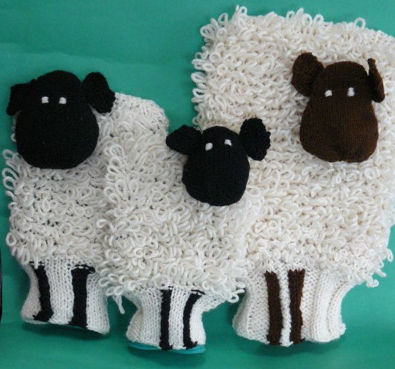 Very cool hot water bottle covers!
