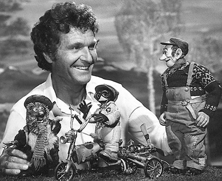 """Childhood Hero nr. 4: Ivo Caprino. Doll maker and animator. Creator of """"Pinchcliffe Grand Prix"""" - perhaps the movie I watched most as a kid."""
