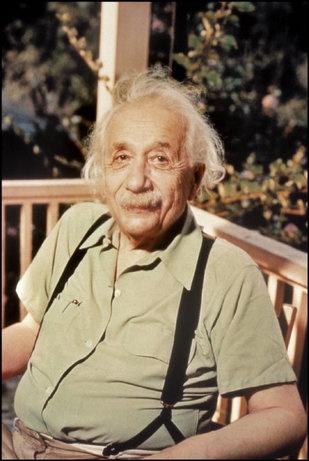 PRINCETON, N.J.—Albert Einstein at his home, 1947.