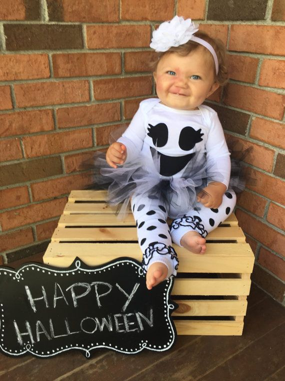 Baby ghost costume toddler baby halloween costume by britswreaths